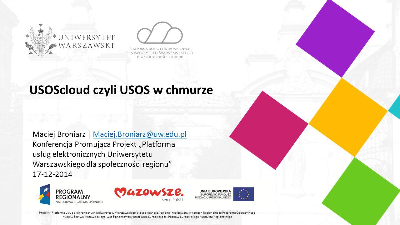 USOScloud czyli USOS w chmurze