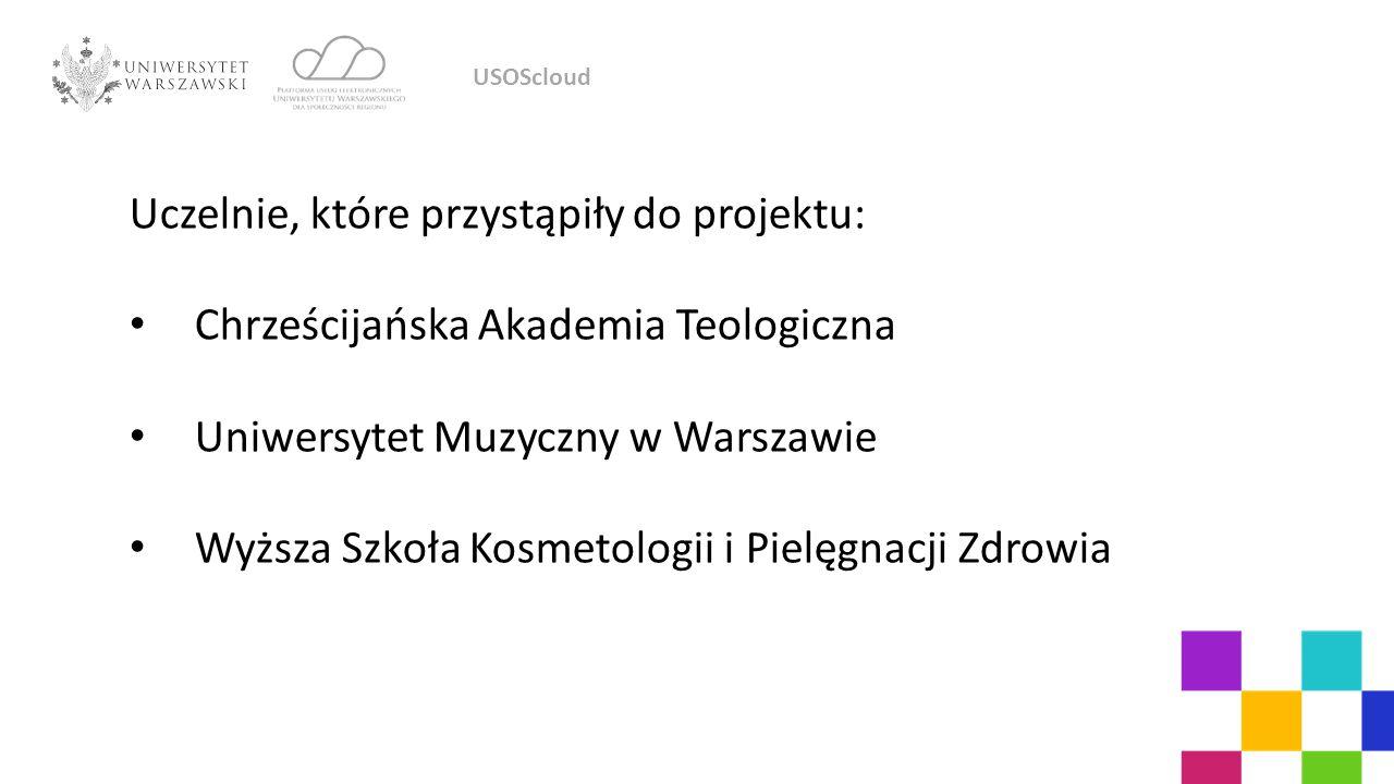 Uczelnie, które przystąpiły do projektu: