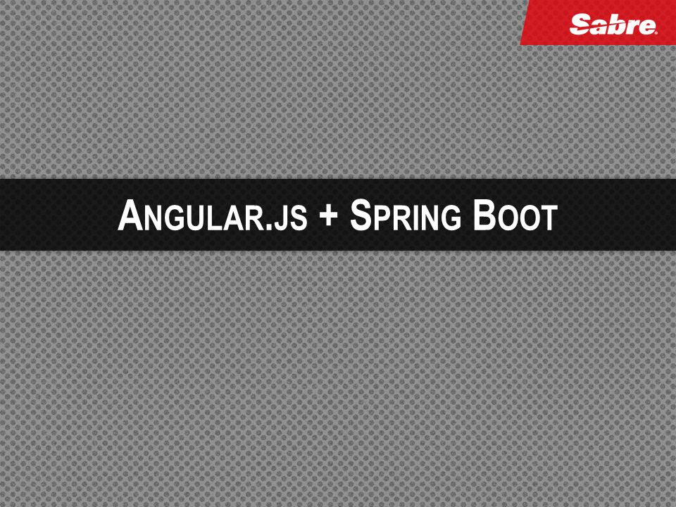 Angular.js + Spring Boot