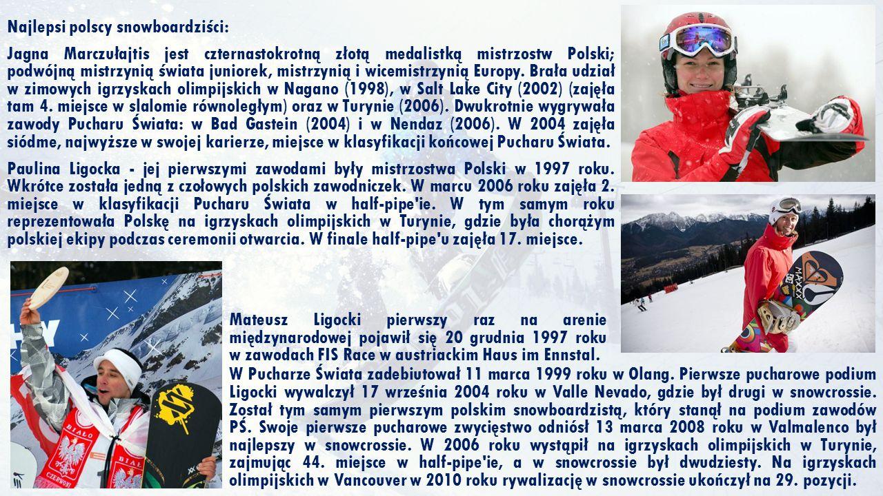 Najlepsi polscy snowboardziści: