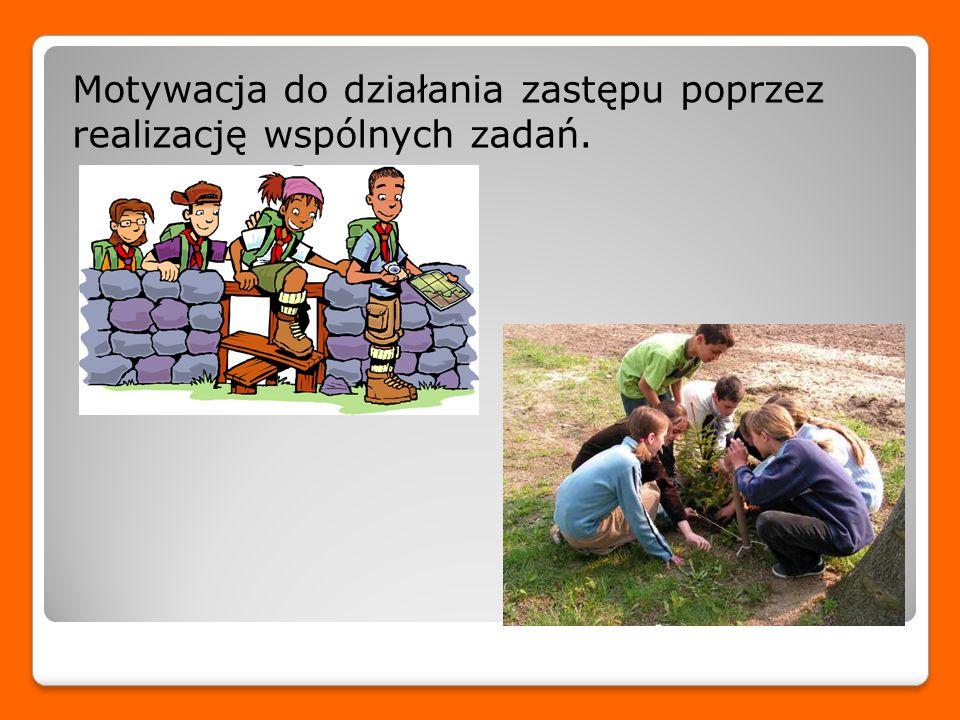 Motywacja do działania zastępu poprzez realizację wspólnych zadań.