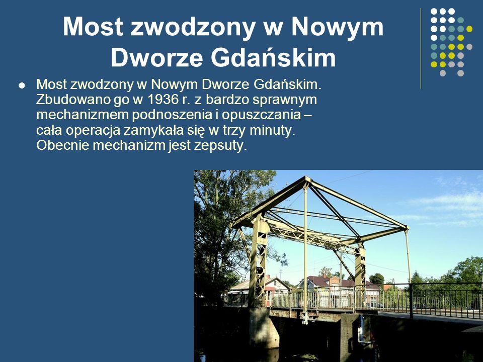 Most zwodzony w Nowym Dworze Gdańskim