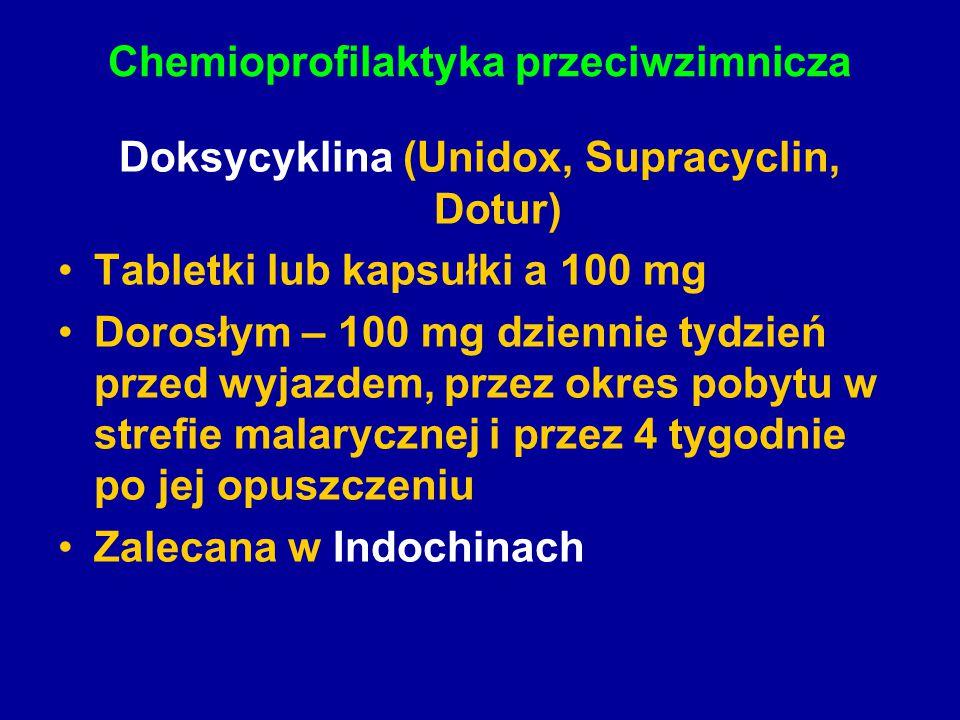 Chemioprofilaktyka przeciwzimnicza