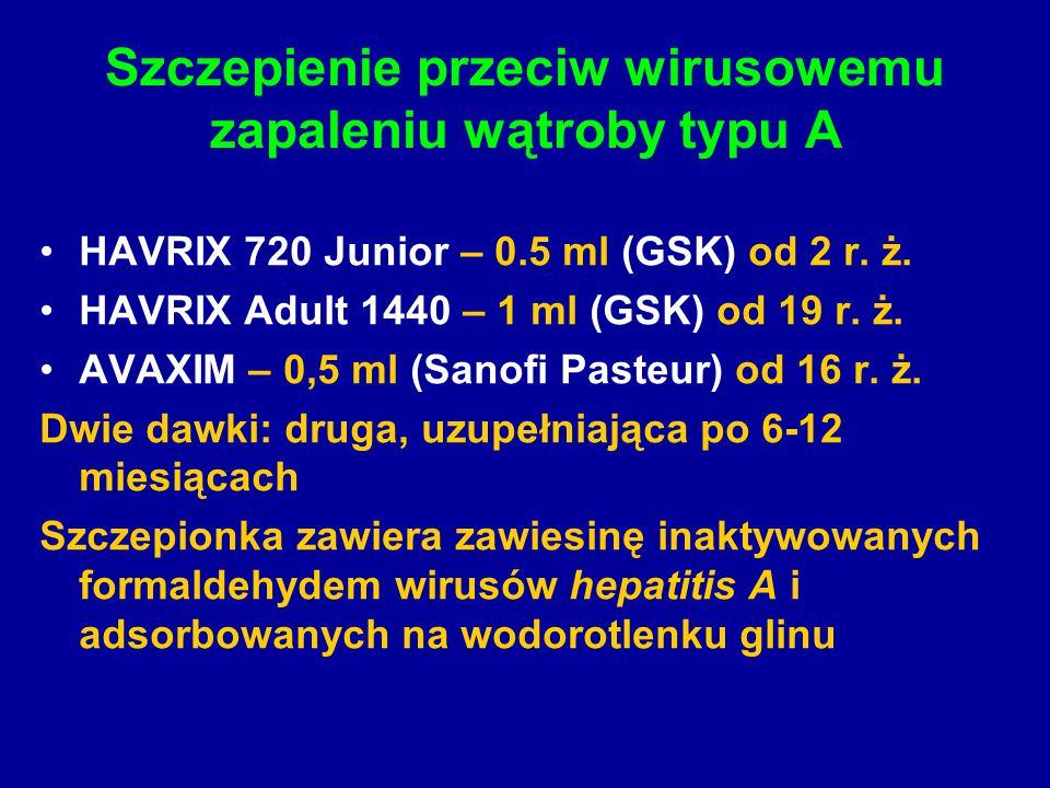 Szczepienie przeciw wirusowemu zapaleniu wątroby typu A