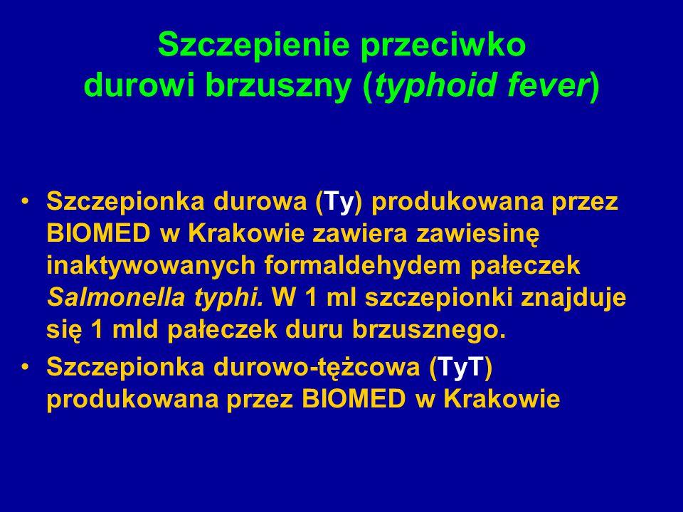 Szczepienie przeciwko durowi brzuszny (typhoid fever)