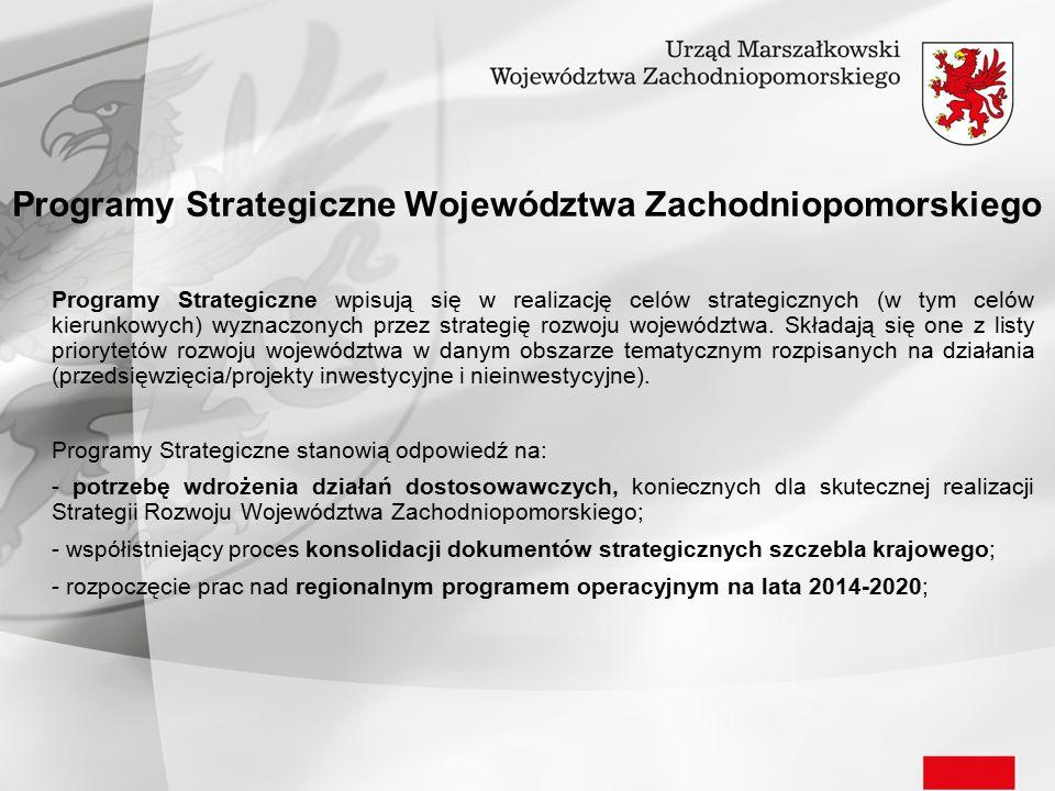 Programy Strategiczne Województwa Zachodniopomorskiego