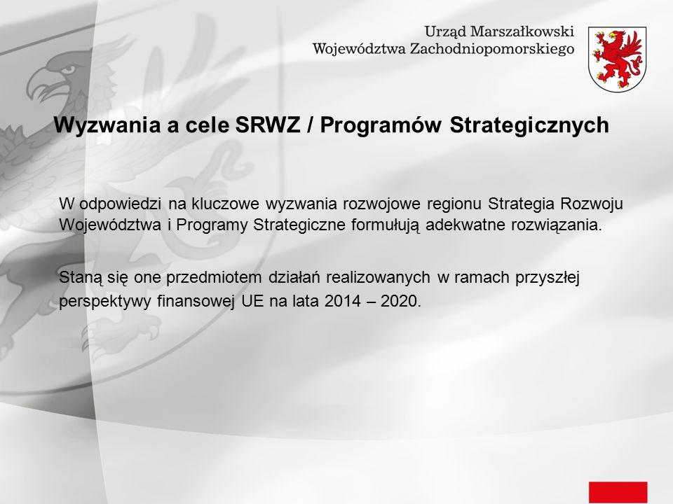 Wyzwania a cele SRWZ / Programów Strategicznych