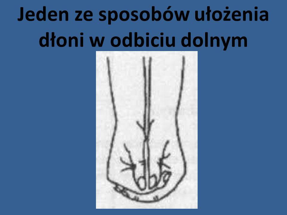Jeden ze sposobów ułożenia dłoni w odbiciu dolnym