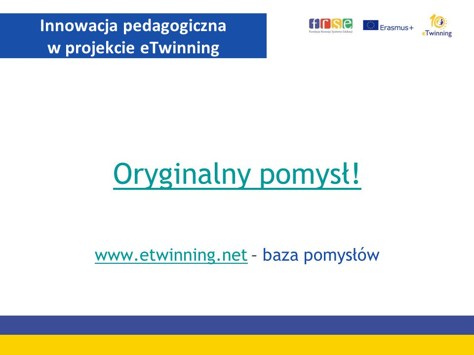 Innowacja pedagogiczna w projekcie eTwinning