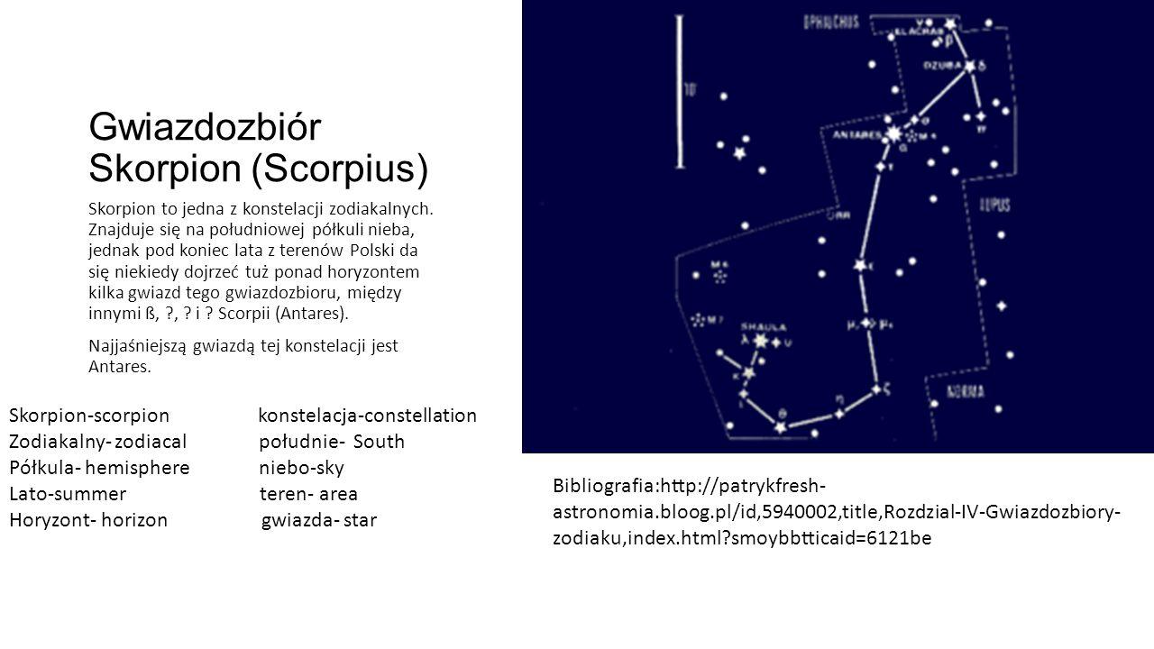 Gwiazdozbiór Skorpion (Scorpius)