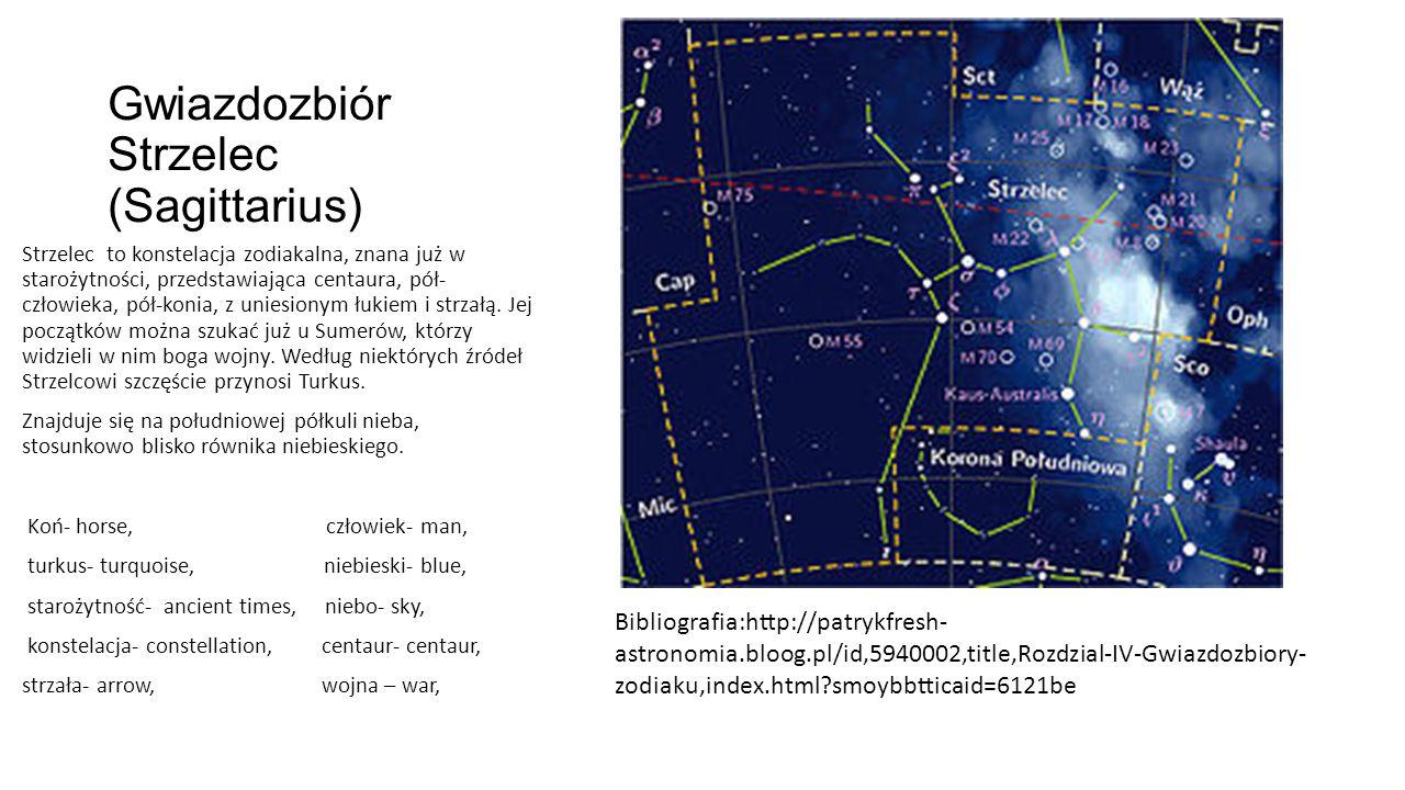 Gwiazdozbiór Strzelec (Sagittarius)