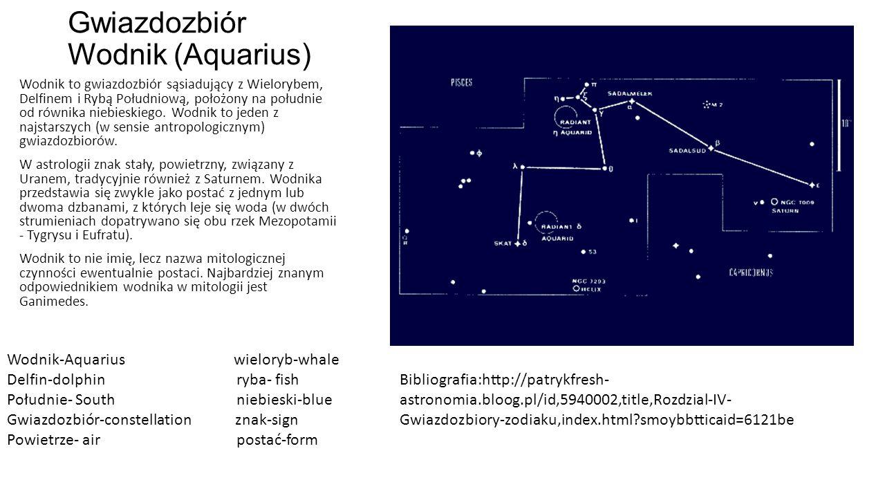 Gwiazdozbiór Wodnik (Aquarius)