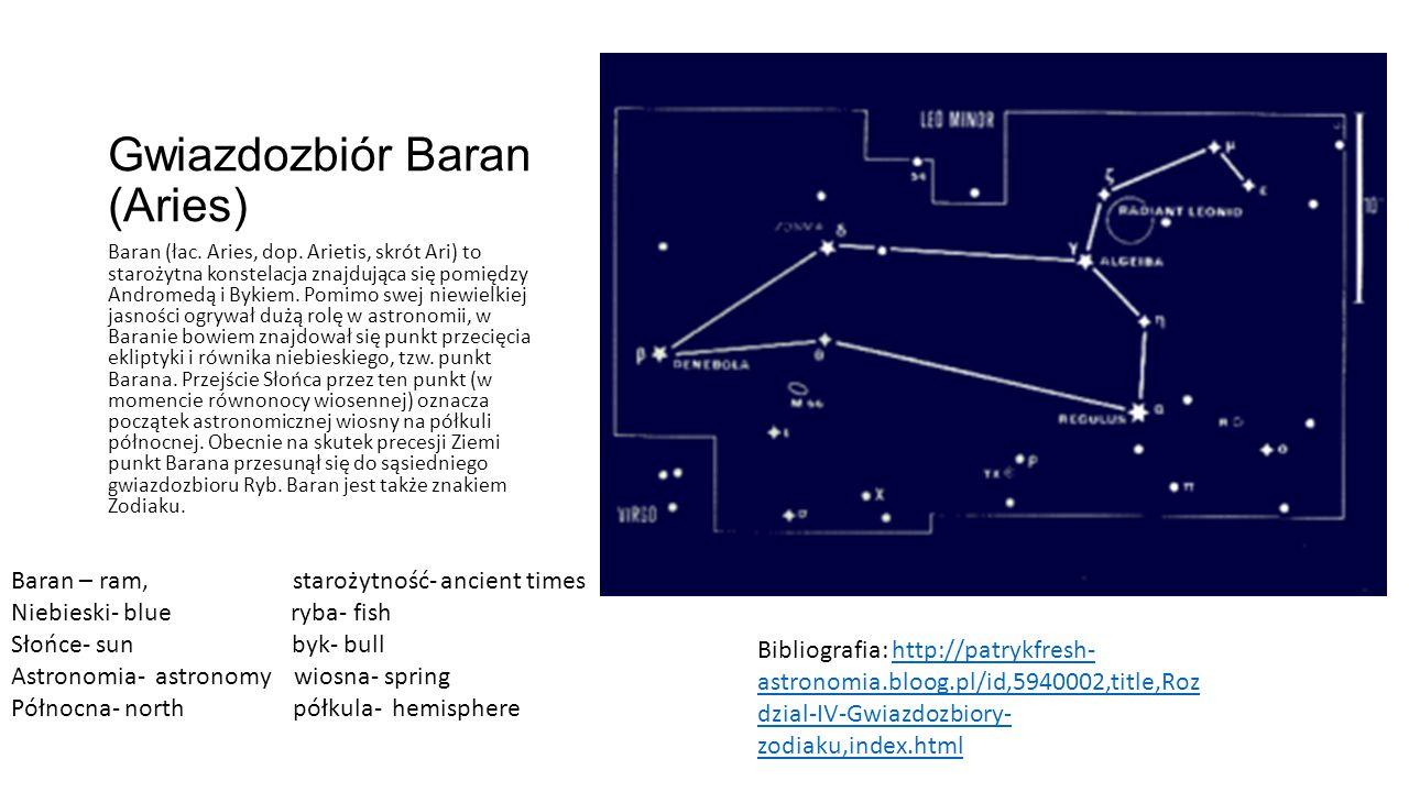 Gwiazdozbiór Baran (Aries)