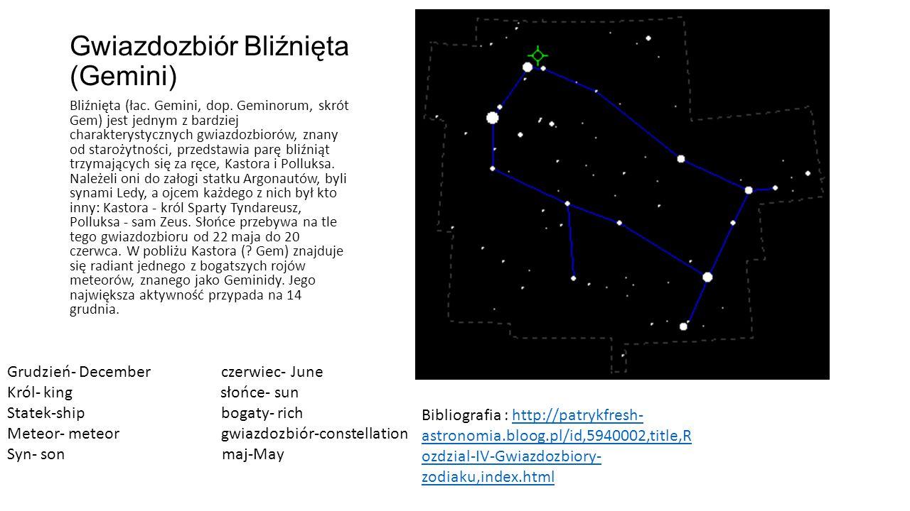 Gwiazdozbiór Bliźnięta (Gemini)