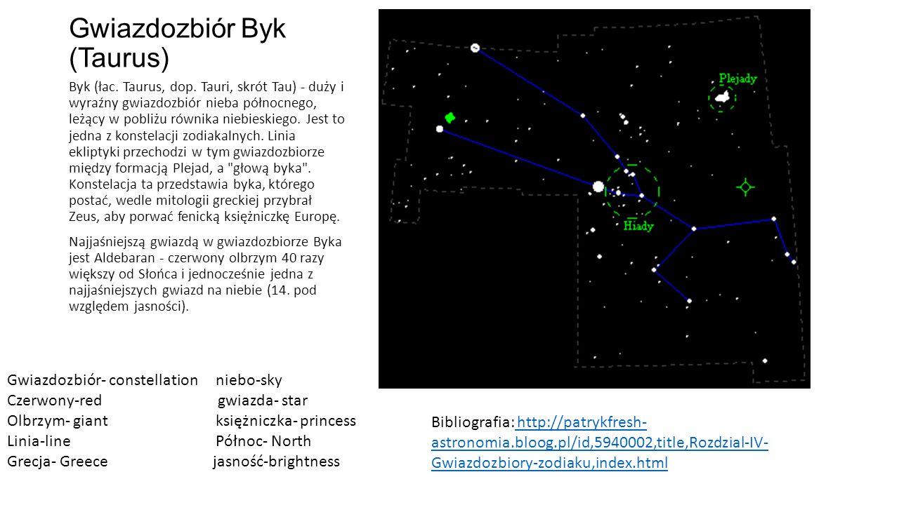Gwiazdozbiór Byk (Taurus)