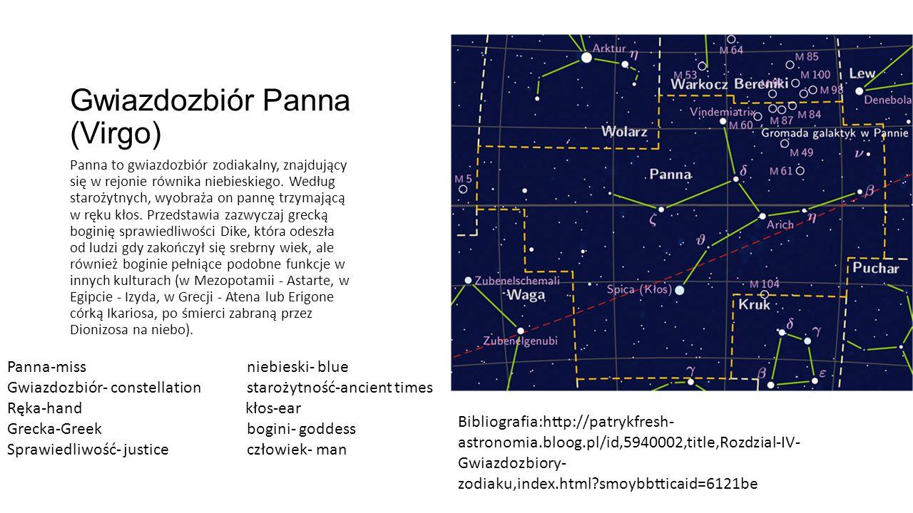 Gwiazdozbiór Panna (Virgo)