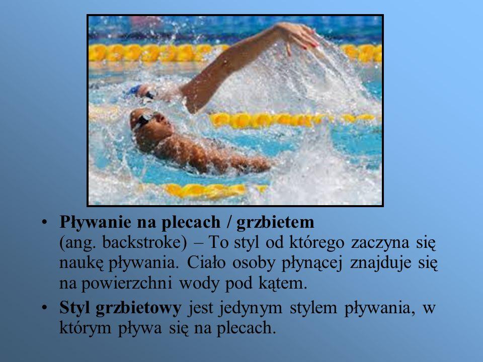 Pływanie na plecach / grzbietem (ang
