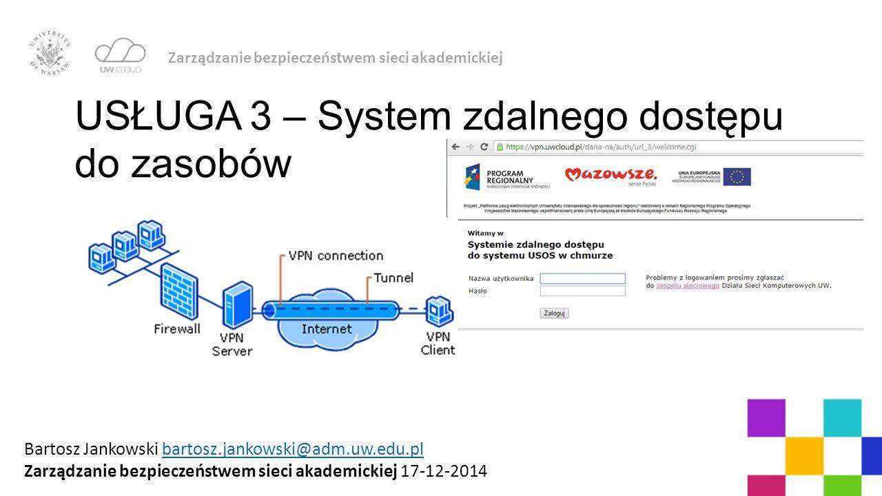USŁUGA 3 – System zdalnego dostępu do zasobów
