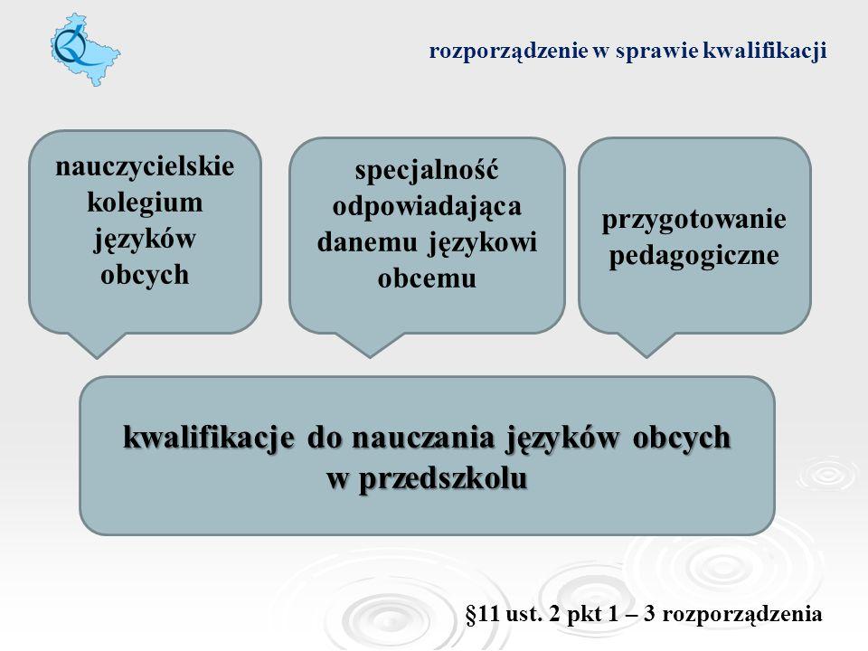 kwalifikacje do nauczania języków obcych w przedszkolu