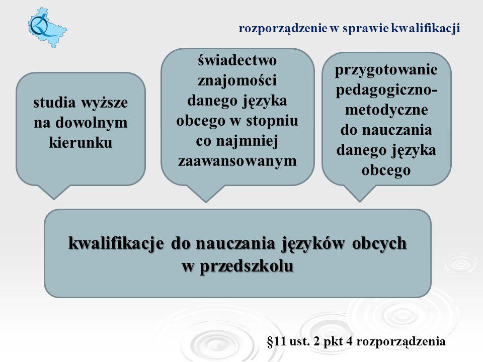 kwalifikacje do nauczania języków obcych