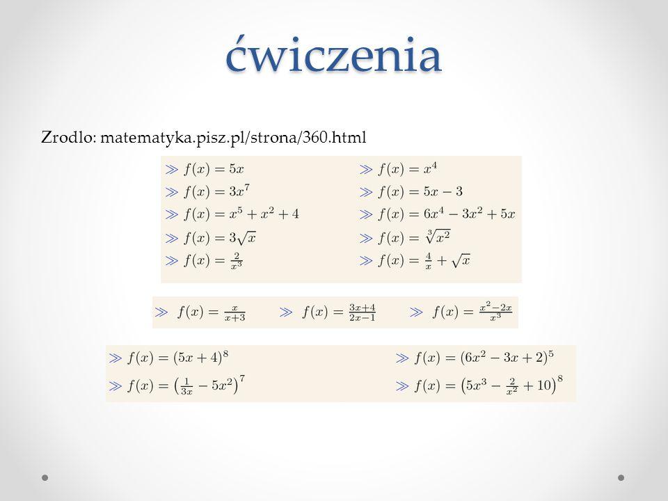 ćwiczenia Zrodlo: matematyka.pisz.pl/strona/360.html