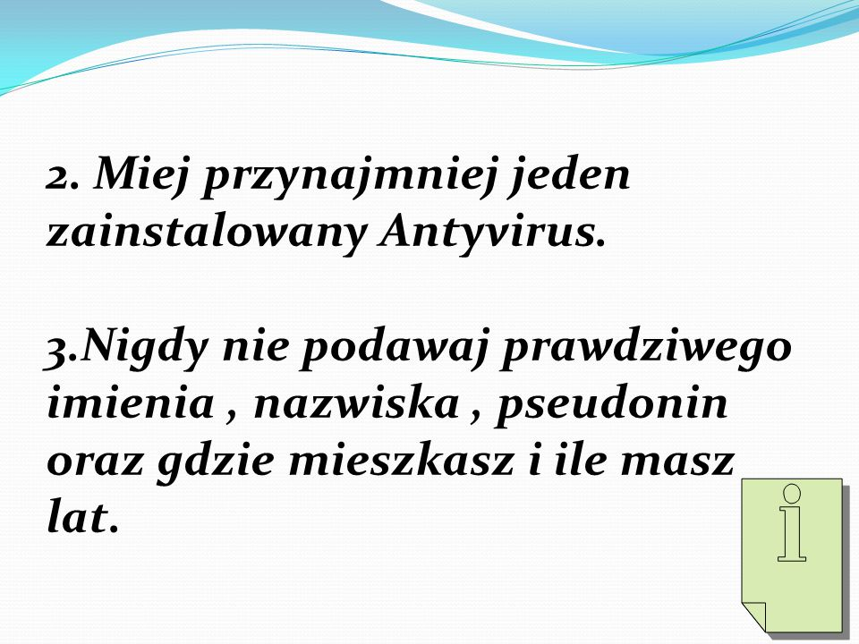 2. Miej przynajmniej jeden zainstalowany Antyvirus.