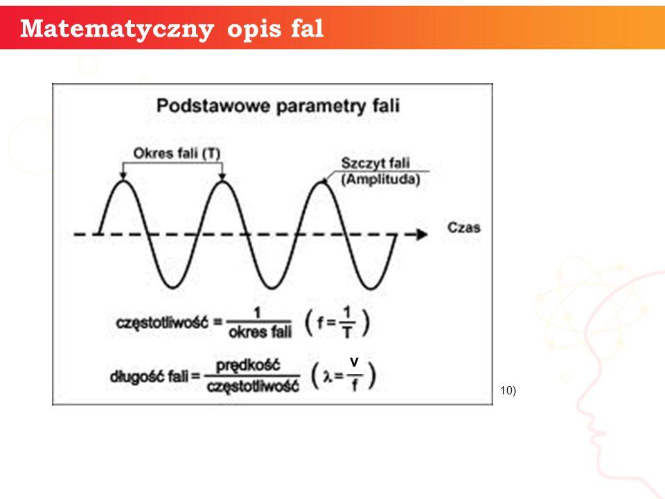 Matematyczny opis fal v 10)