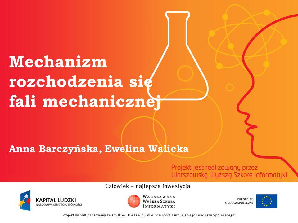 Mechanizm rozchodzenia się fali mechanicznej Anna Barczyńska, Ewelina Walicka