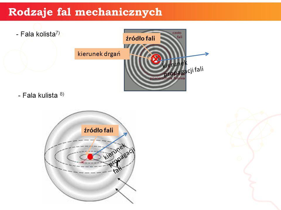 Rodzaje fal mechanicznych