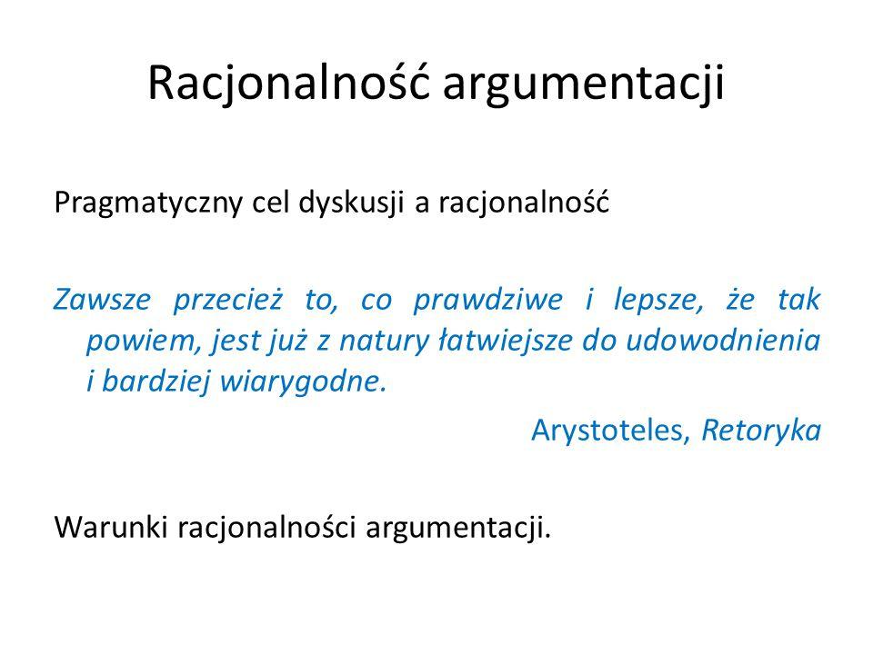 Racjonalność argumentacji