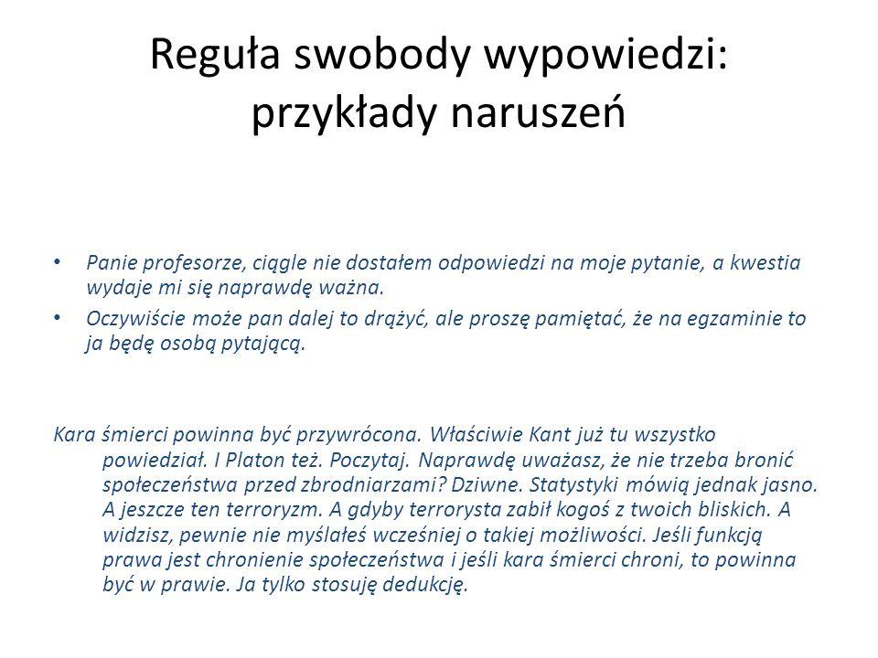 Reguła swobody wypowiedzi: przykłady naruszeń