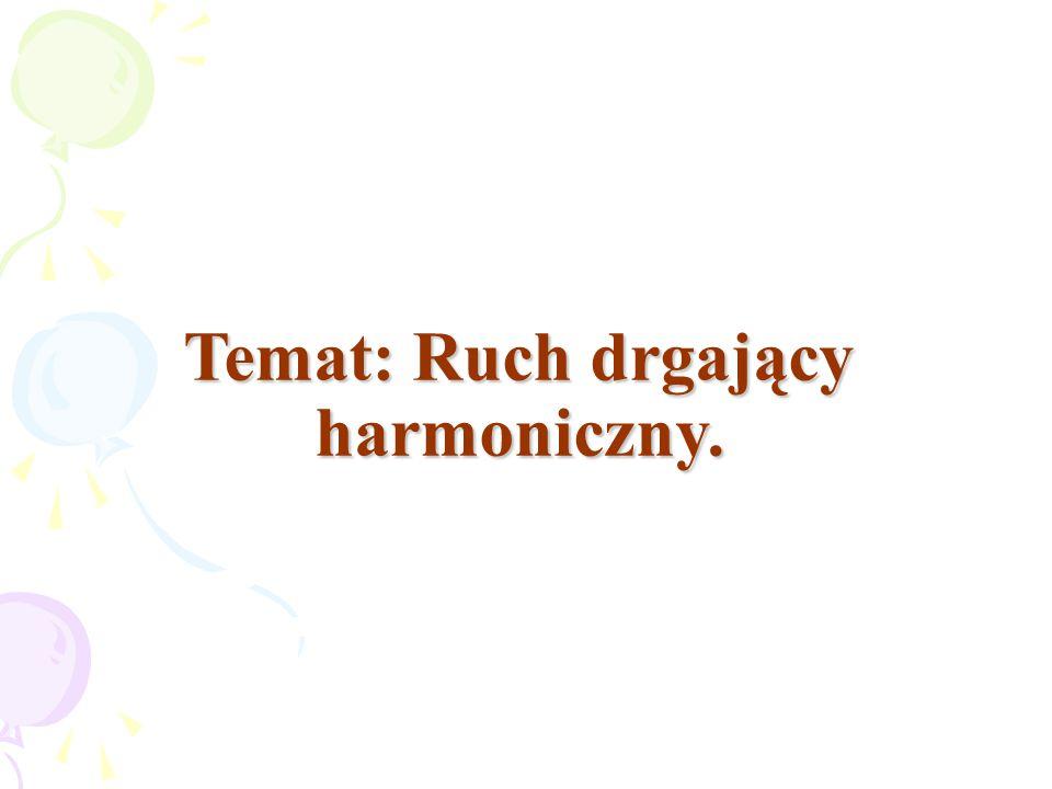 Temat: Ruch drgający harmoniczny.