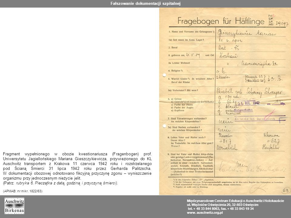 Fałszowanie dokumentacji szpitalnej