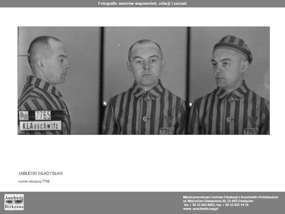 Fotografie autorów wspomnień, relacji i zeznań