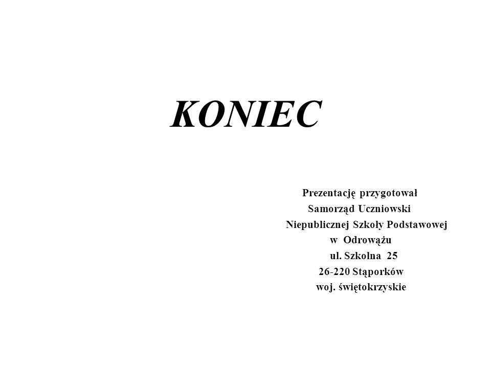 KONIEC Prezentację przygotował Samorząd Uczniowski