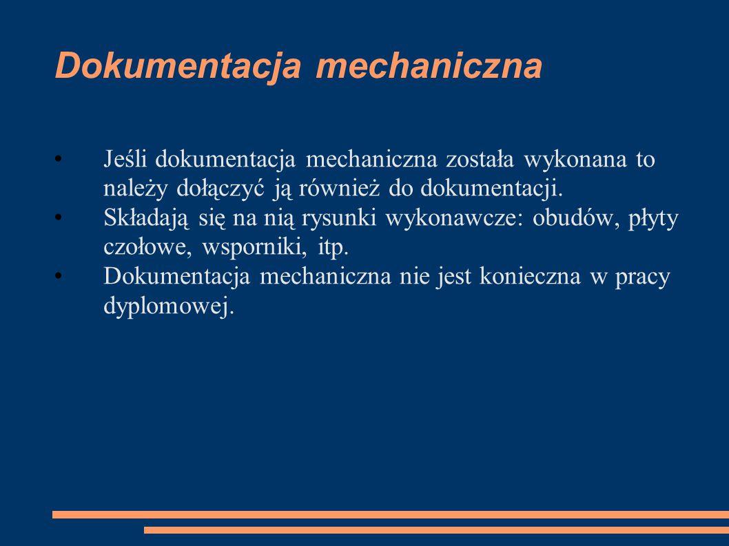 Dokumentacja mechaniczna