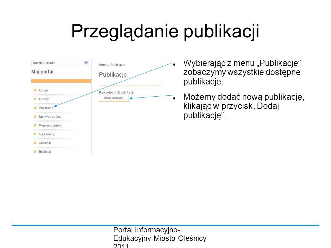 Przeglądanie publikacji
