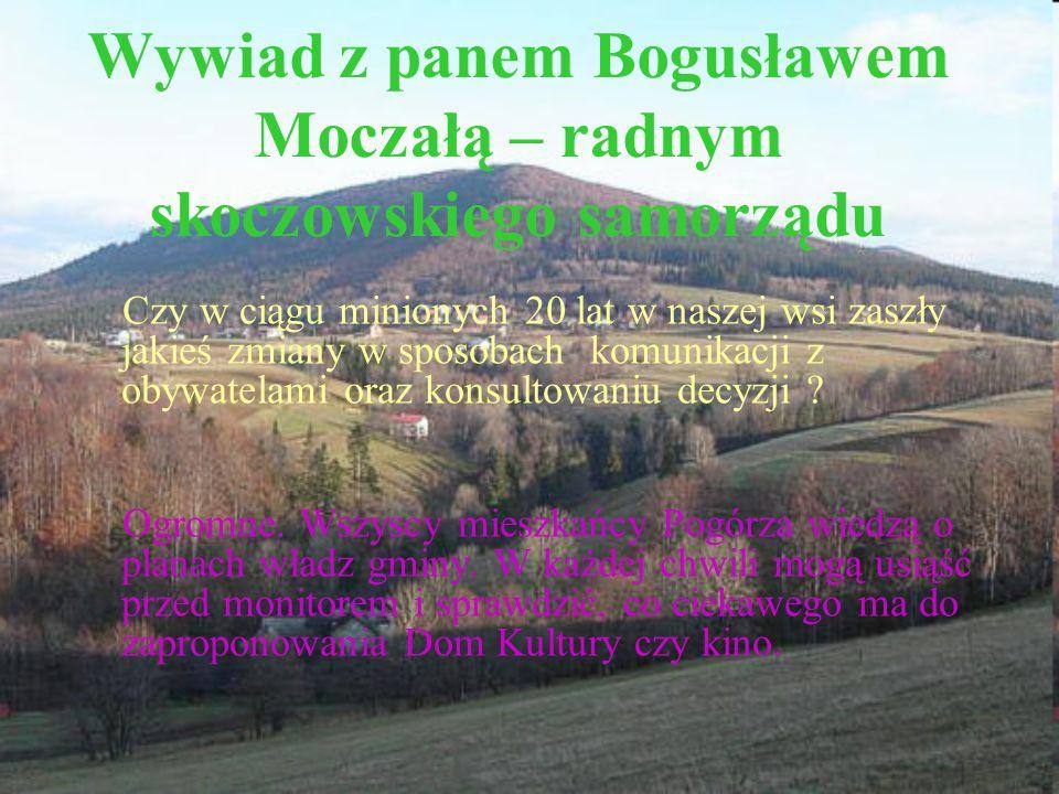 Wywiad z panem Bogusławem Moczałą – radnym skoczowskiego samorządu
