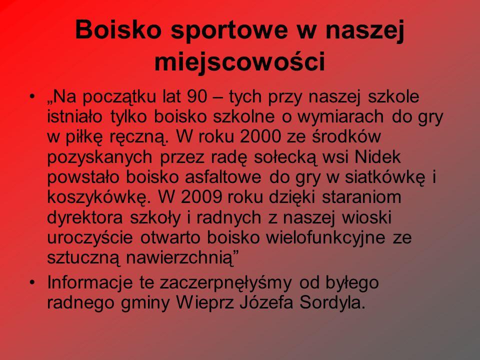 Boisko sportowe w naszej miejscowości