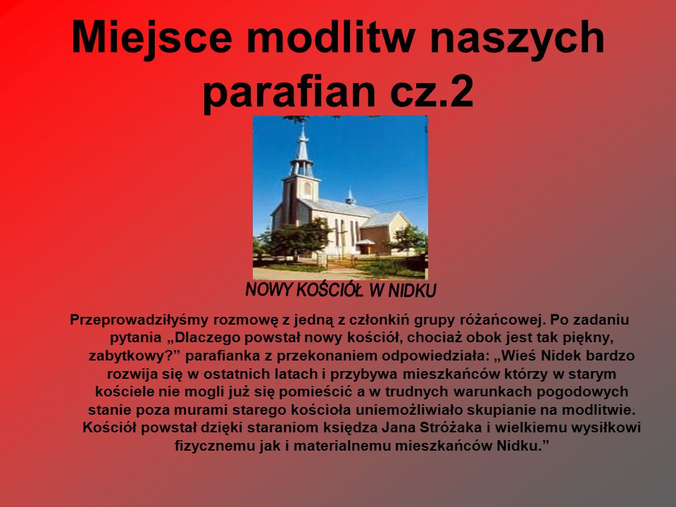 Miejsce modlitw naszych parafian cz.2