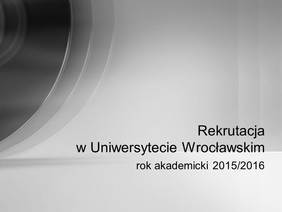 Rekrutacja w Uniwersytecie Wrocławskim