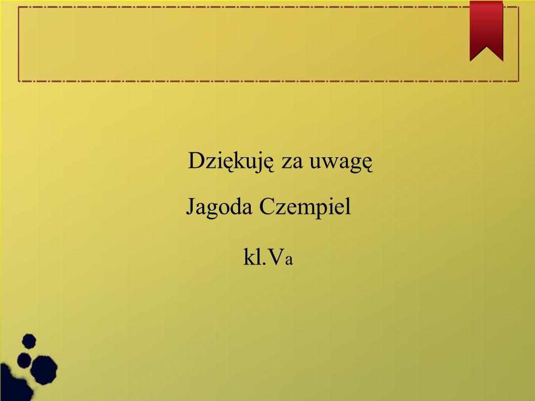 Dziękuję za uwagę Jagoda Czempiel kl.Va