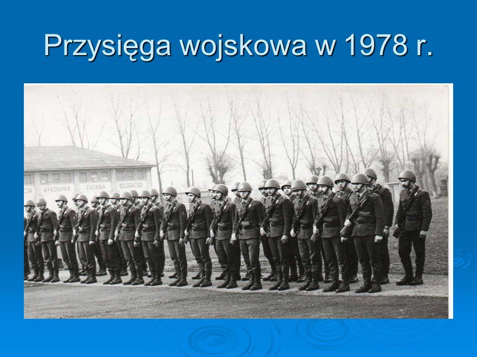 Przysięga wojskowa w 1978 r.