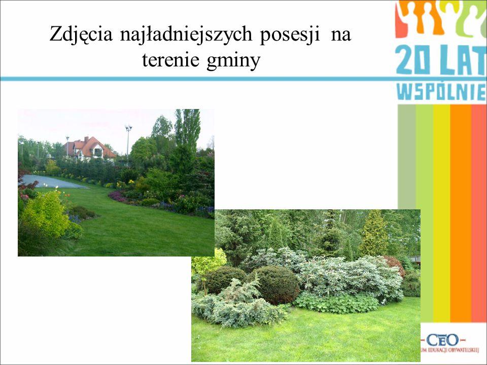 Zdjęcia najładniejszych posesji na terenie gminy