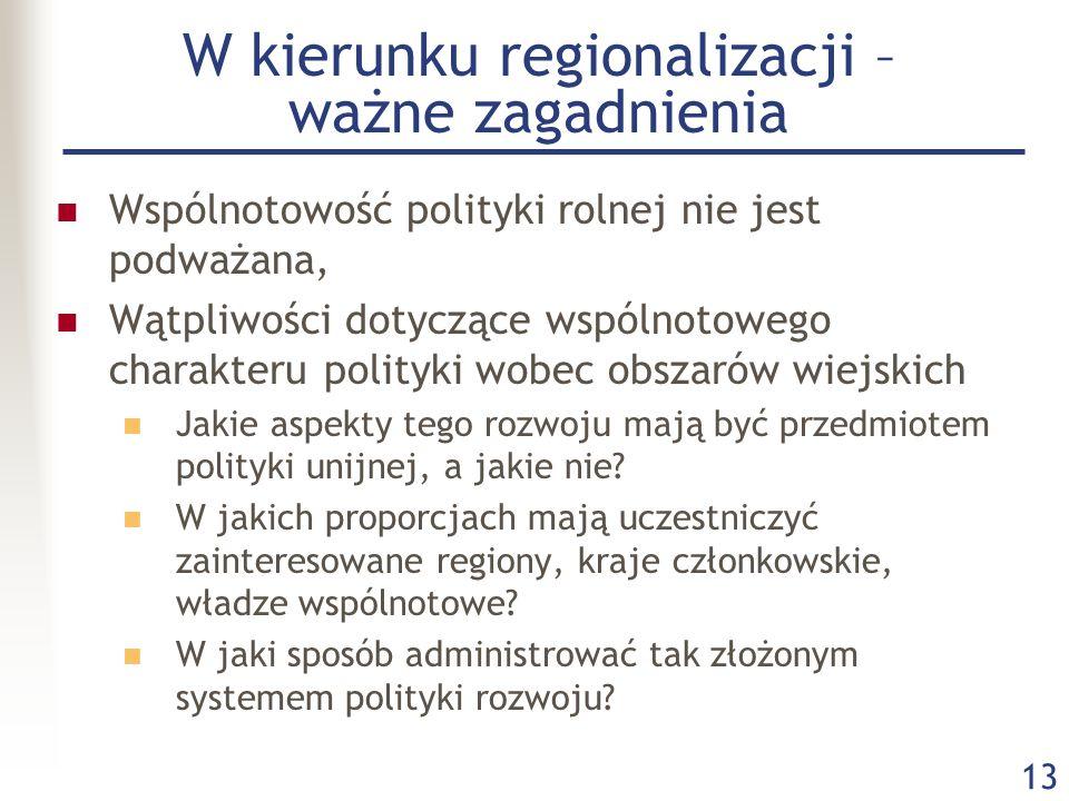 W kierunku regionalizacji – ważne zagadnienia