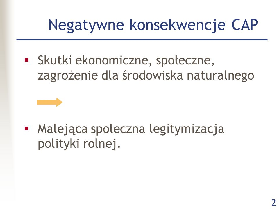 Negatywne konsekwencje CAP
