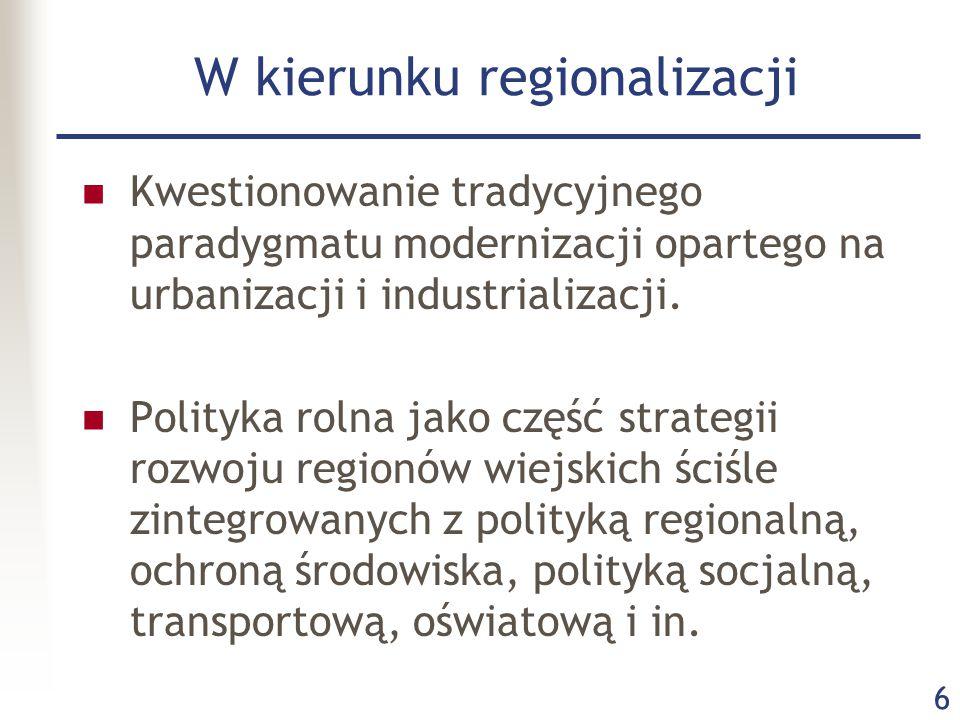 W kierunku regionalizacji