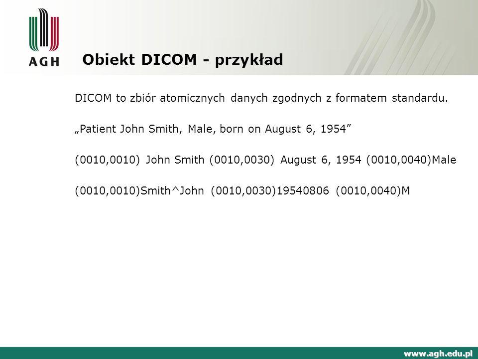 Obiekt DICOM - przykład