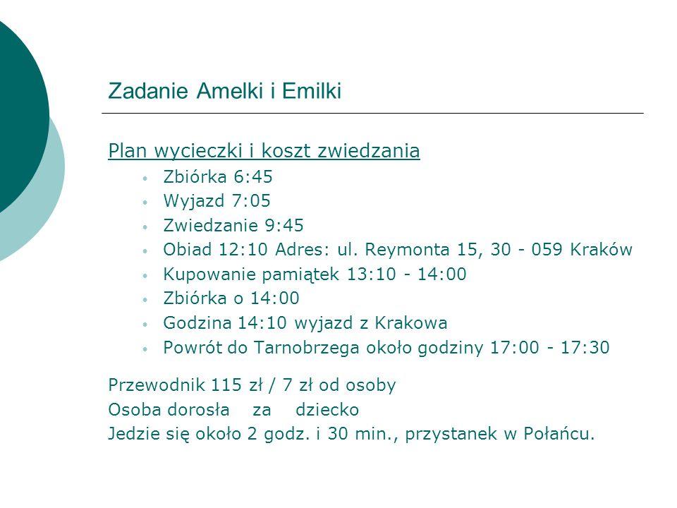 Zadanie Amelki i Emilki