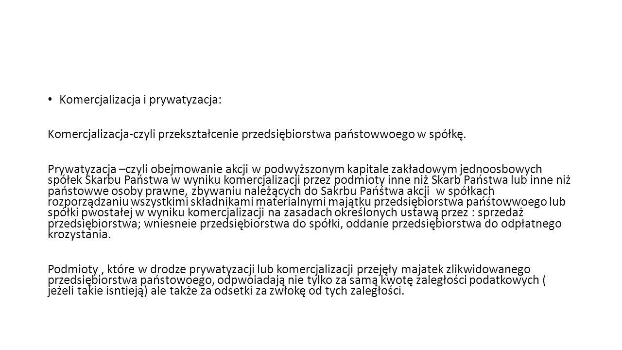 Komercjalizacja i prywatyzacja: